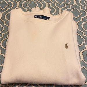 Polo Ralph Lauren off white crew neck sweater.